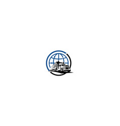 container truck shipping icon logo vector image