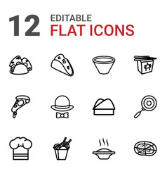 cuisine icons vector image