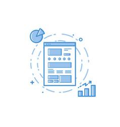 design concept ux design vector image