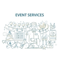 doodle style design concept special event and vector image