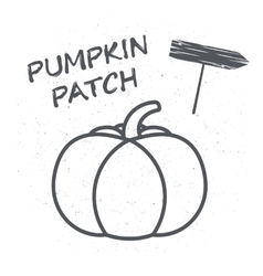 Embelema or a poster with pumpkin vector