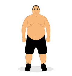 fat man obesity unhealthy lifestyle vector image