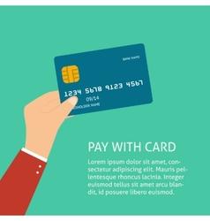 Flat plastic card vector image