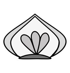 Floral art decorative icon vector