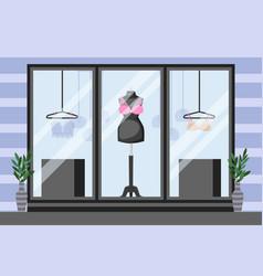 Front showcase underwear storefront vector