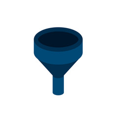 Funnel isometric object vector