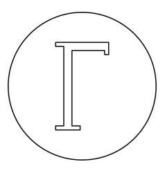 Gamma greek symbol capital letter uppercase font vector
