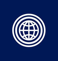 geometric globe world logo vector image