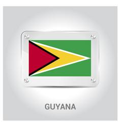 guyana flag design vector image