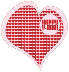 Happy V Day vector