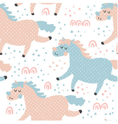 horse pattern vector image