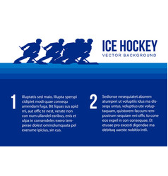Ice hockey background - player silhouettes vector