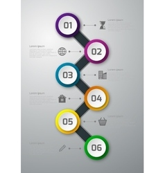 infographics timeline circles vector image