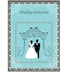 Invitation to the Huppah invitation to a Jewish vector image vector image