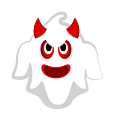 isolated cute halloween demon ghost vector image
