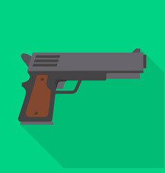 Isolated object pistol and caliber sign vector