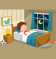 kid sleeping vector image