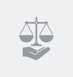 Legal services symbol concept vector