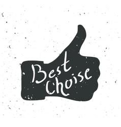 Like symbol better choice hand vector