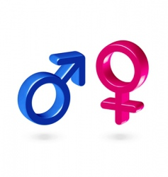 male and female gender symbol vector image