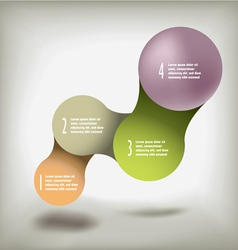 Modern infographic upscale colors vector image