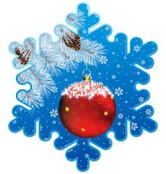 ny snowflake vector image