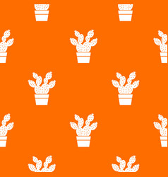 Prickly pear pattern orange vector