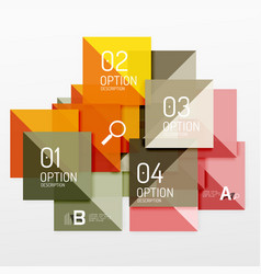 Repetition of overlapping color squares vector