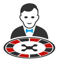 Roulette dealer flat icon vector