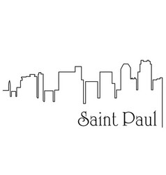saint paul city one line drawing vector image