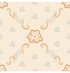 Seamless background from ornate ornament vector image