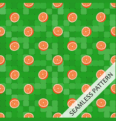 seamless pattern with juicy oranges vector image