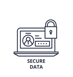 secure data line icon concept secure data vector image