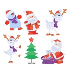 Set Objects for Creation Christmas Greeting Card vector image