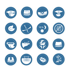 simple set of diaper related icons vector image