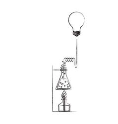 sketch blurred silhouette of glass beaker vector image