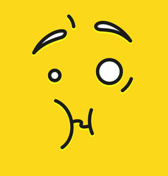 smile icon template design unpleasantly surprised vector image