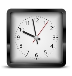 Square clock vector