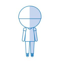 Stylish avatar cartoon boy vector