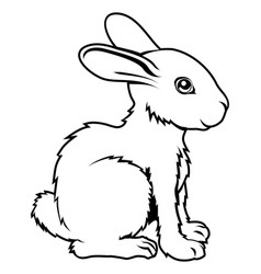 Stylized rabbit vector