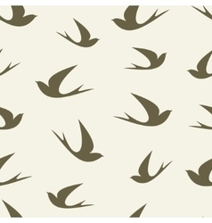 Stylized silhouette swallow pattern vector