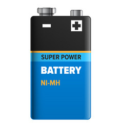 super power battery isolated on white vector image