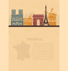 Template leaflets with a map france and vector