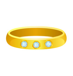 Thick gold ring on white vector