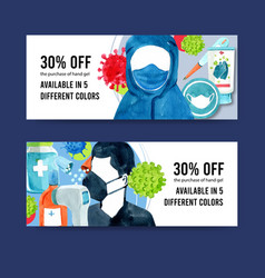 Twitter ad design with medical concept creative vector