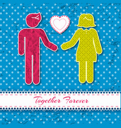 two textured people concept vector image