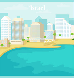 urban landscape of the tel aviv coast israel vector image