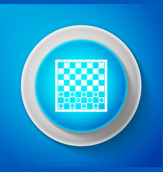 white board game of checkers icon chess board vector image