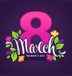 women day greeting card design vector image
