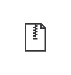 zip document paper outline icon isolated note vector image